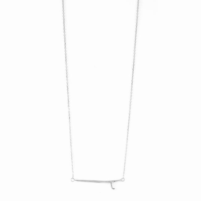 SINGLE FIN NECKLACE - Silver