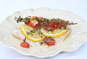 Pressure Cooker - Tilapia with Lemon and Cherry Tomatoes