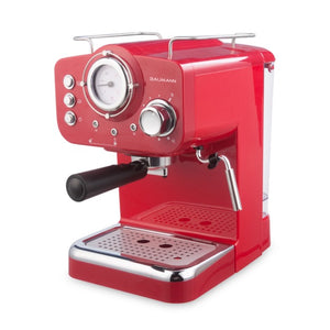 Retro Style Espresso Maker with Milk Frother