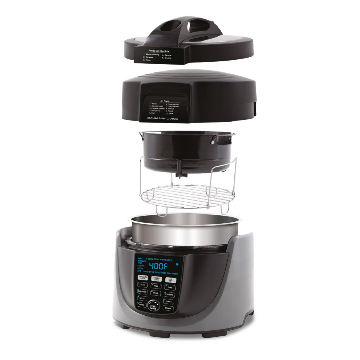 Duo Pressure Cooker & Air Fryer