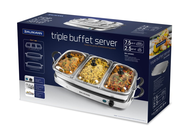 Triple Buffet Server