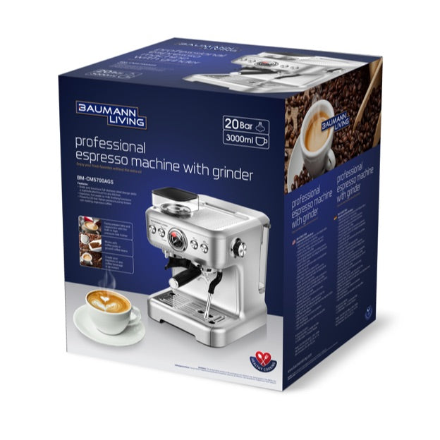 Professional Espresso Machine with Grinder