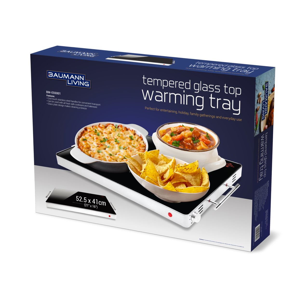 Tempered Glass Top Warming Tray