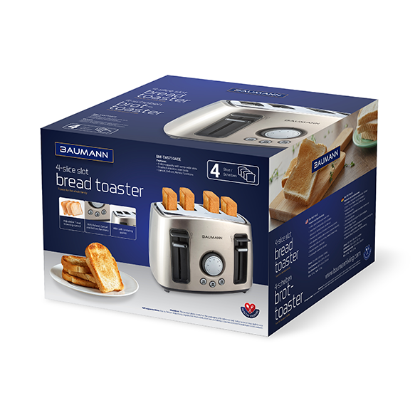 4-Slice Slot Bread Toaster