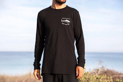 Tiger Shark Long Sleeve T-Shirt - Black