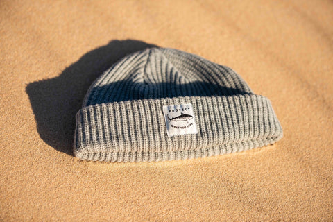 Tiger Shark Beanie - Grey