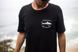 Tiger Shark Short Sleeve T-Shirt (Black)