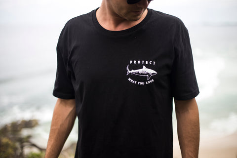 Tiger Shark Short Sleeve T-Shirt - Black