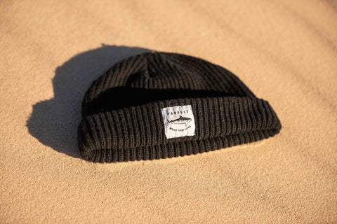 Tiger Shark Beanie - Black