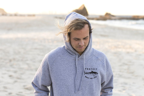 Tiger Shark Hoodie (Light Grey)