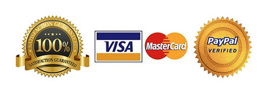 Visa Mastercard and Paypal accepted