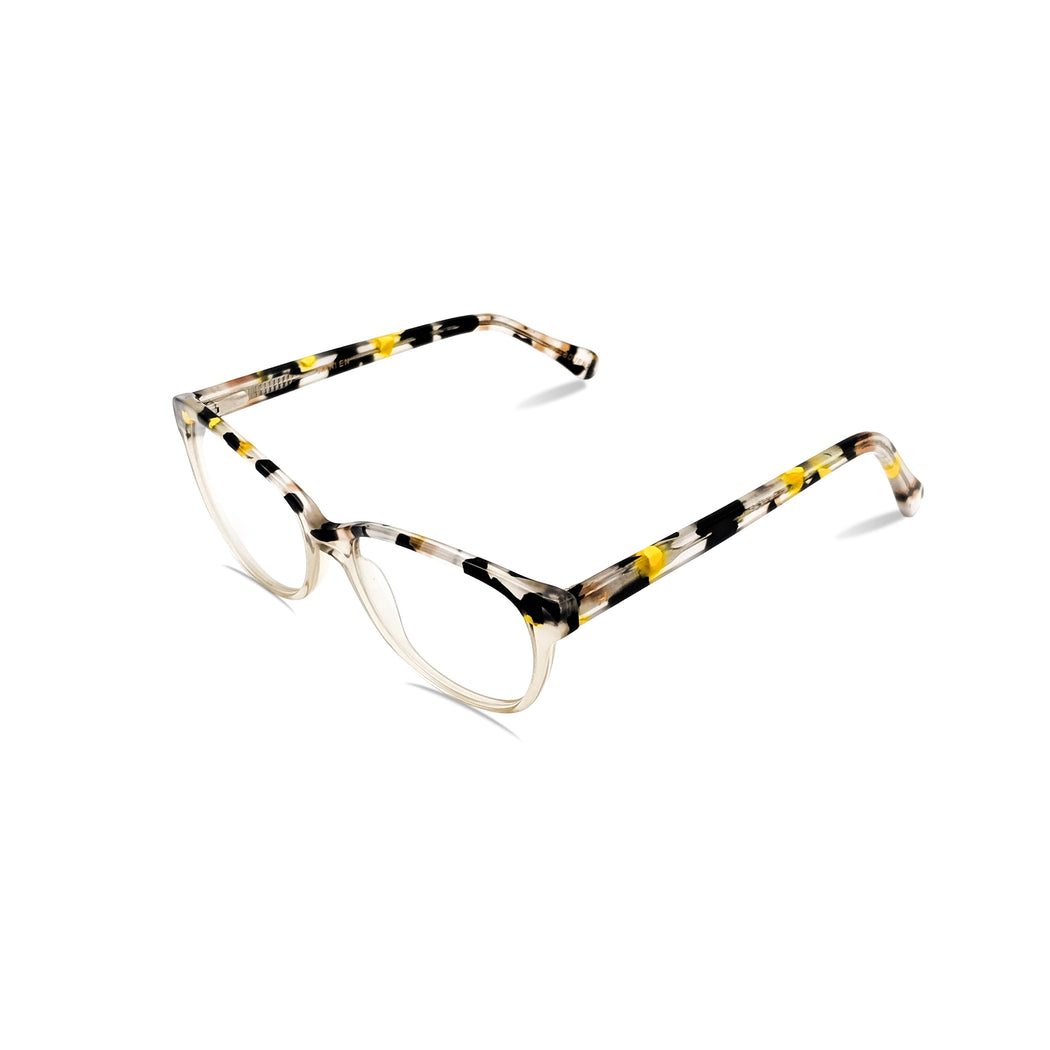 Belle / Tortoise Yellow C6: Ultra-Fine Acetate