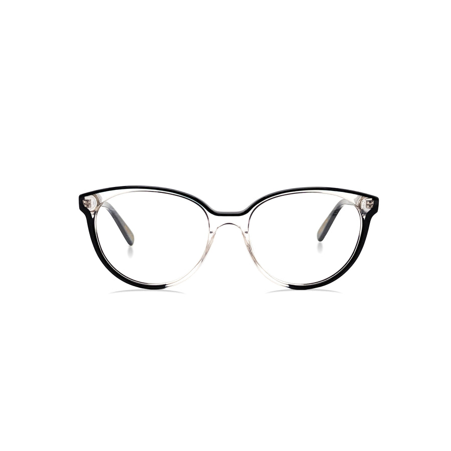 Meza 2 / Black & Translucent C2 : Ultra-Fine Acetate
