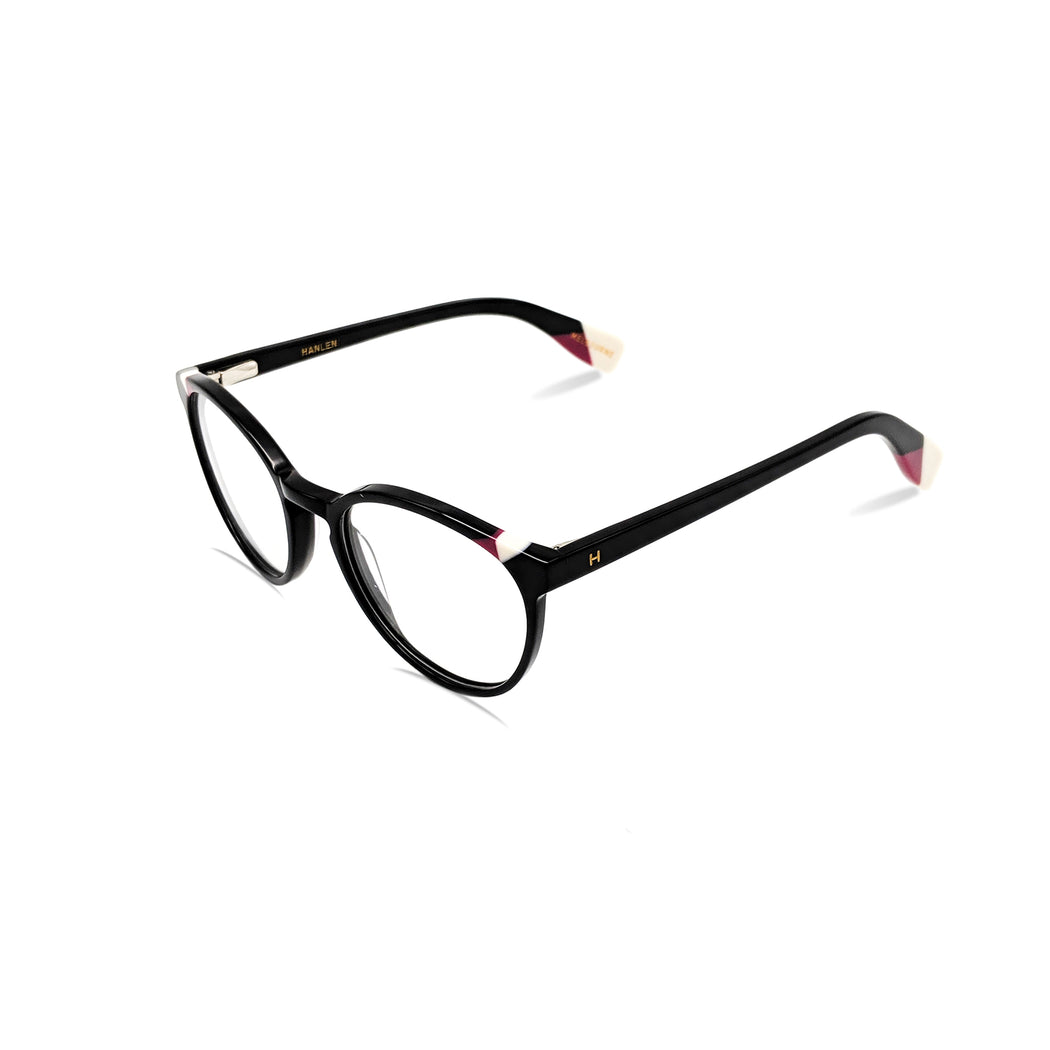 Kyra / Solid Black C1 : Ultra-Fine Acetate