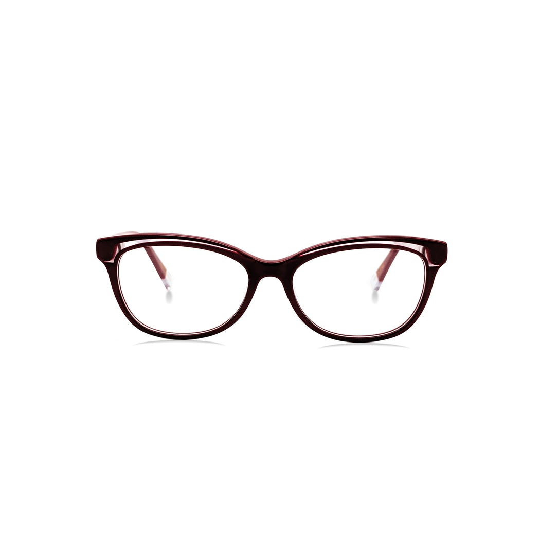 Meza / Lava Red & Crystal C2: Ultra-Fine Acetate
