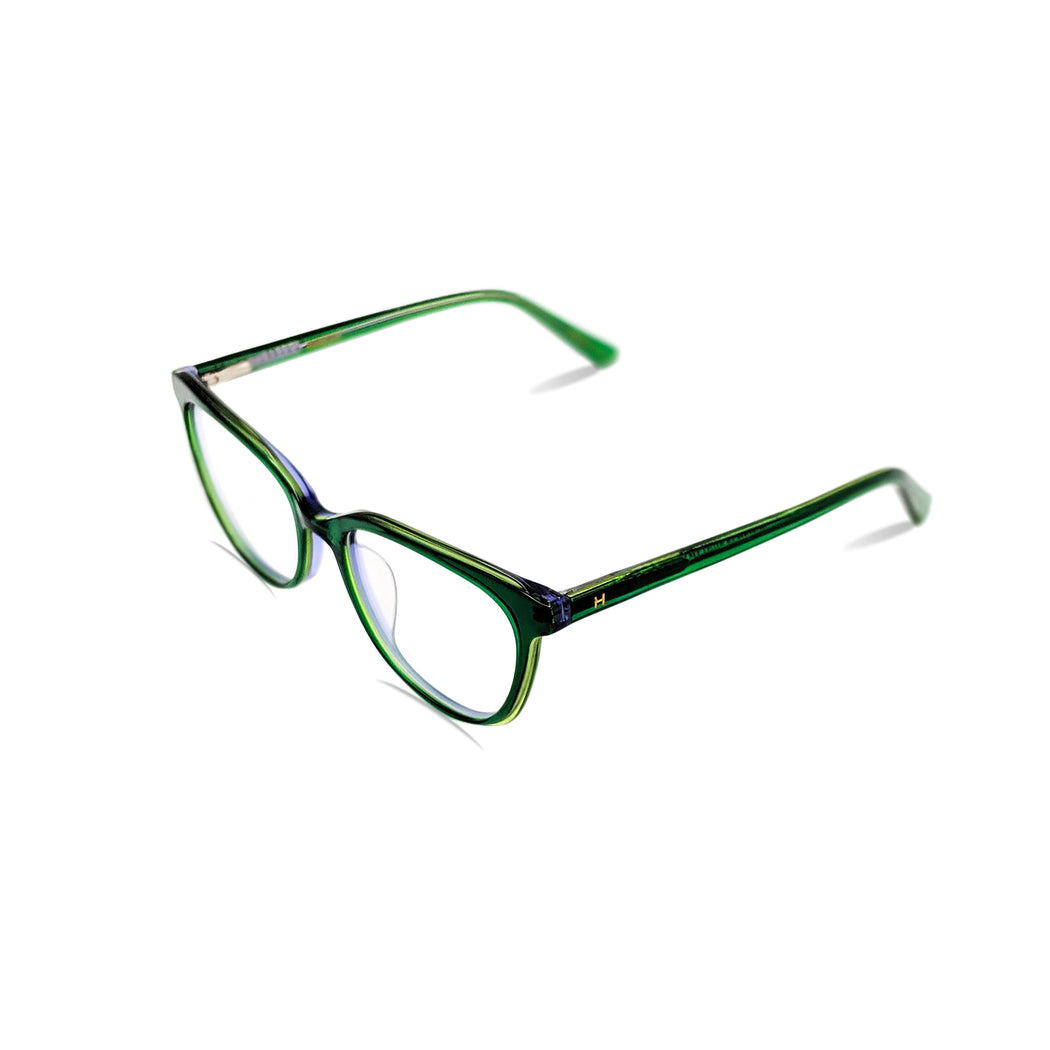 Genevieve / Green Olivine & Purple C4: Ultra-Fine Acetate