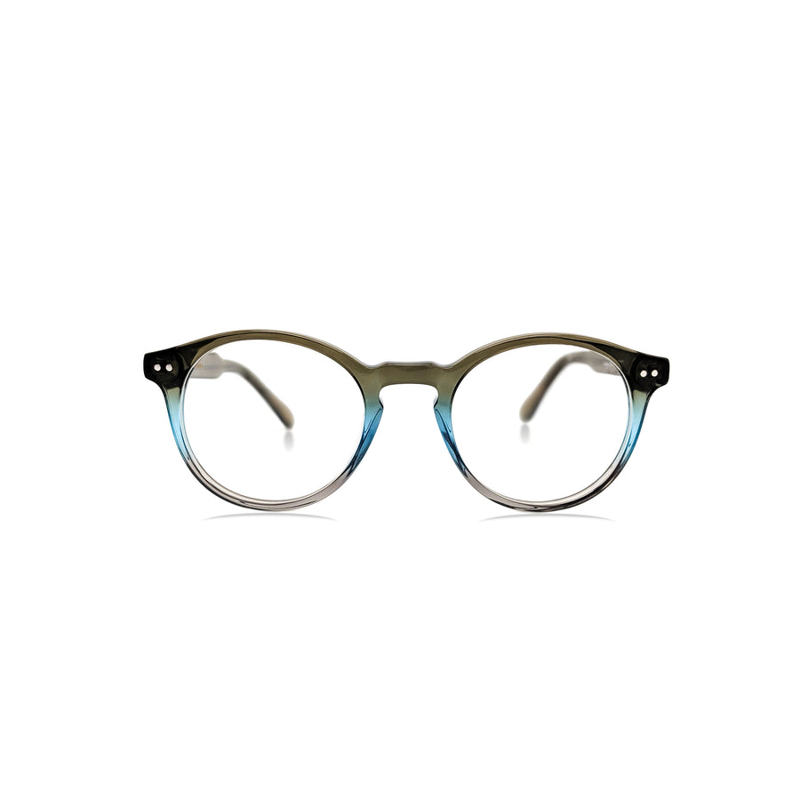 Lachlan / Tri-color Olive Blue Gray C4: Ultra-Fine Acetate