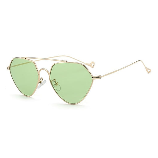 HANLEN No.671 / Metallic Gold & Light Green Lens : EDITION 18 SUN