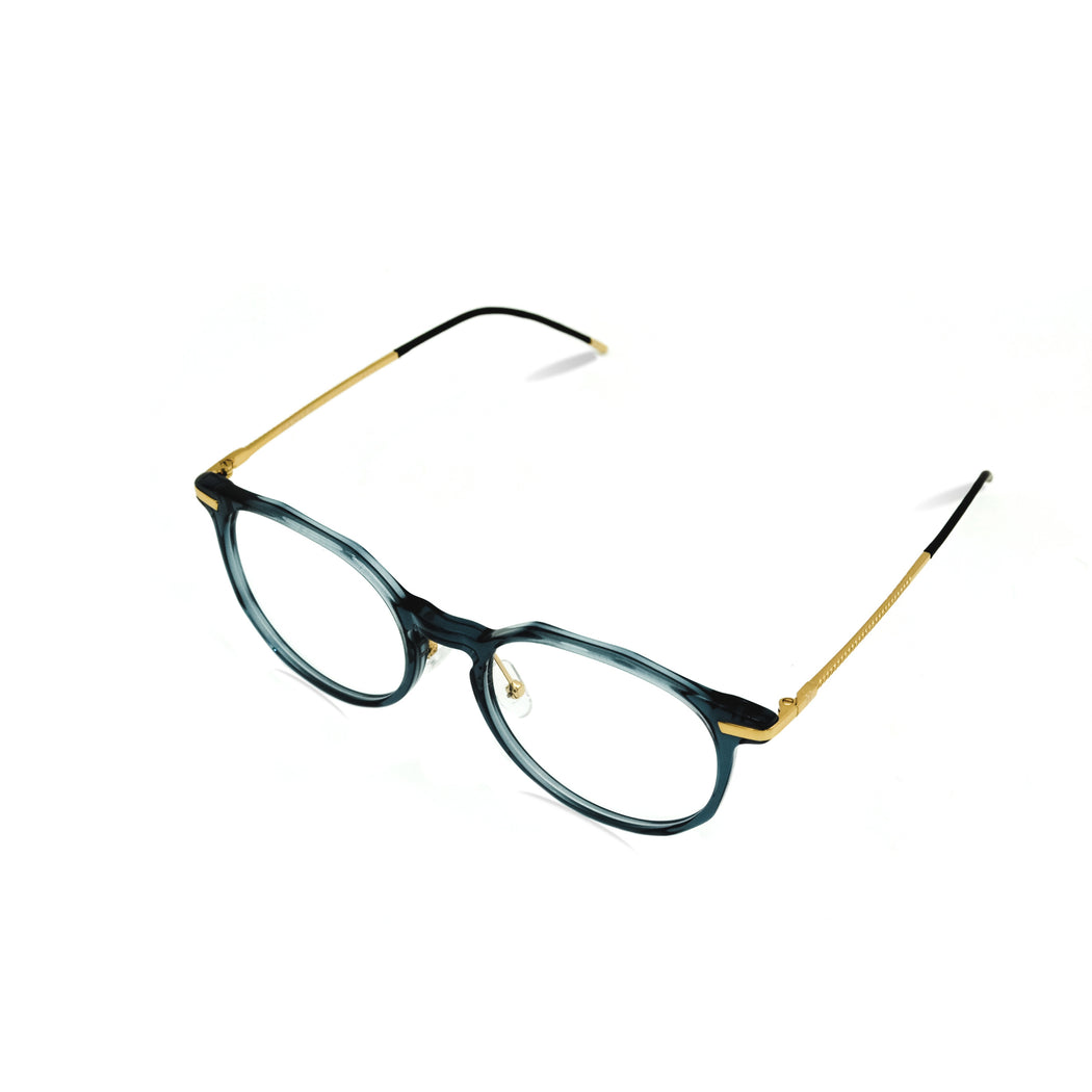 HANLEN Clarity / Translucent Slate Teal & Gold  : BESPOKE EDITION