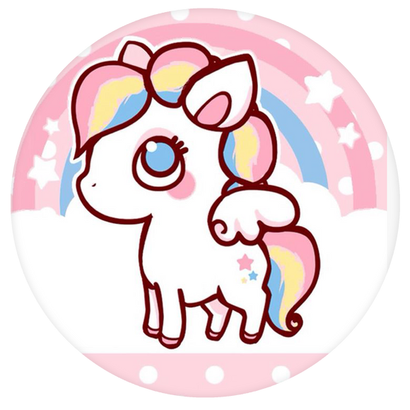 Unicorn Pop-Grip: Pinky Cute Unicorn Pop-Grip