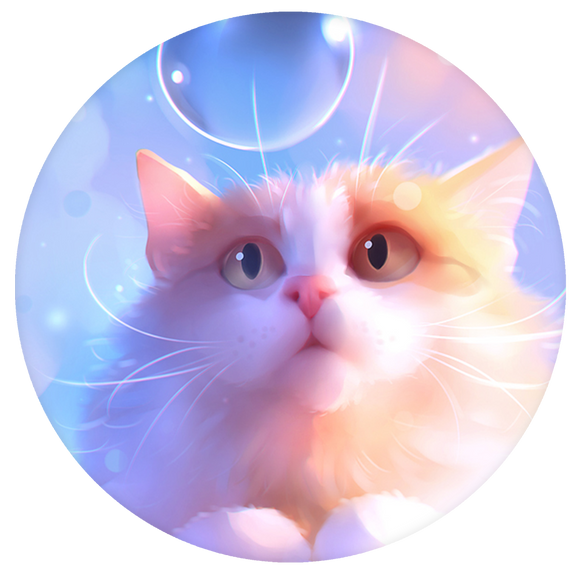 Cat Pop-Grip: Bubble Cat Pop-Grip