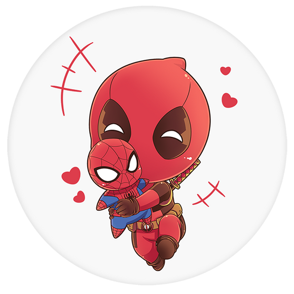 Deadpool Pop-Grip: Deadpool Spiderman Pop-Grip