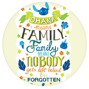 Disney Quote Pop-Grip: Ohana Lilo and Stitch Pop-Grip