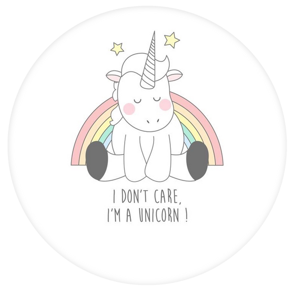 Unicorn Pop-Grip: Don't Care Unicorn Pop-Grip