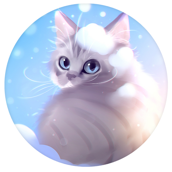 Cat Pop-Grip: Snowy Cat Pop-Grip