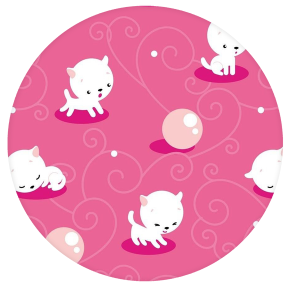 Cat Pop-Grip: Pink Cat Pattern Pop-Grip