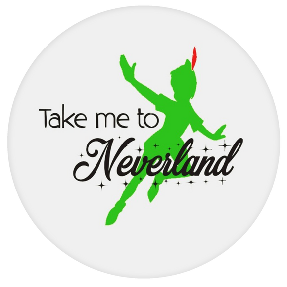 Disney Quote Pop-Grip: Peterpan Neverland Pop-Grip