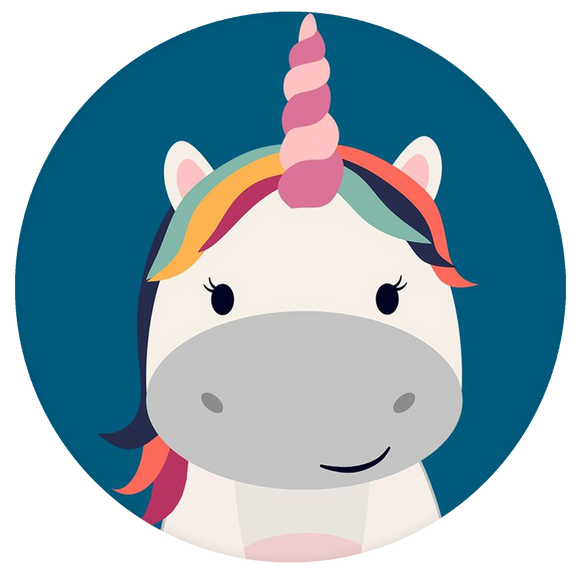 Unicorn Pop-Grip: Cute Face Unicorn Pop-Grip