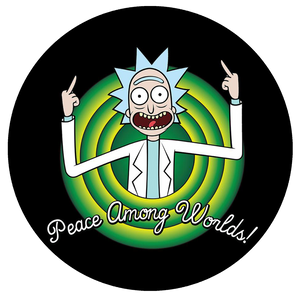 Rick and Morty Pop-Grip: Peace Rick Pop-Grip