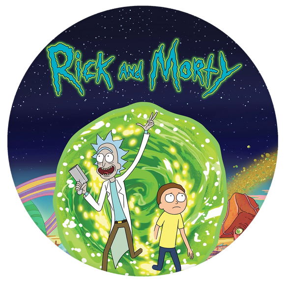 Rick and Morty Pop-Grip: Rick and Morty logo Pop-Grip