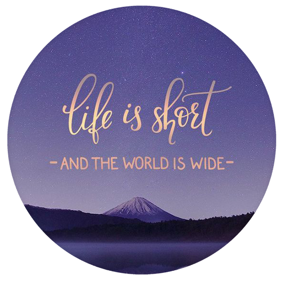 Quote Pop-Grip: Life is Short Pop-Grip