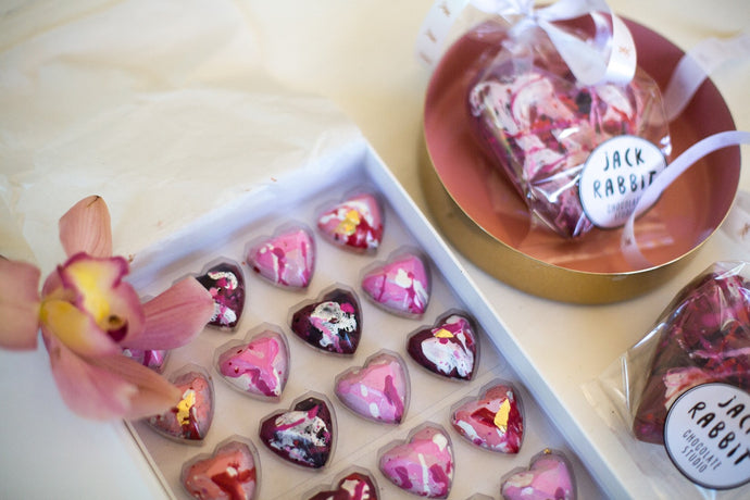 Valentines floral chocolate collection box of 12