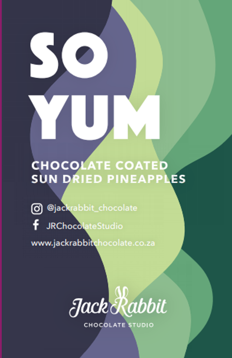 Chocolate coated pineapple