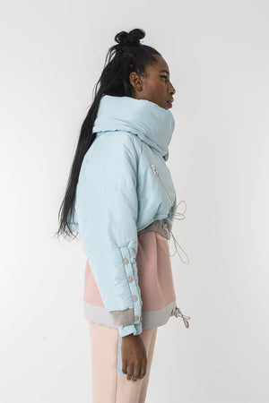 Baby bottle crop puffer jacket