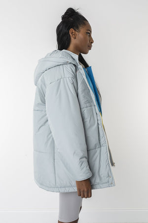 Double ice puffer vest and jacket