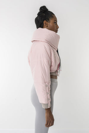Pinkie pie crop puffer jacket