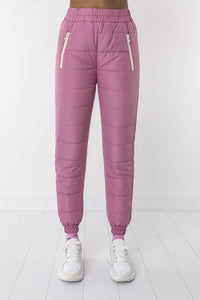 Bubblegum padded trousers