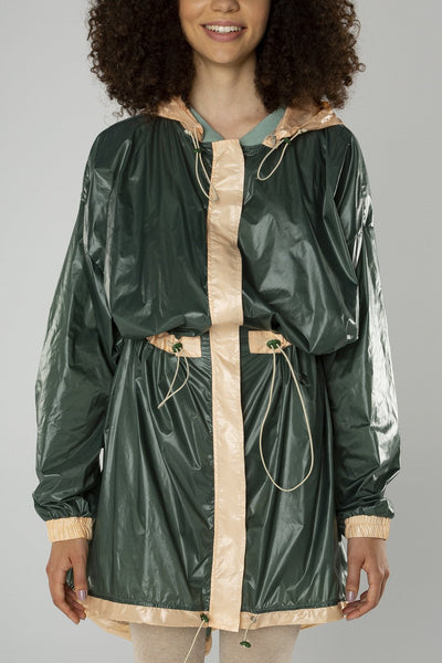 Military but cute raincoat
