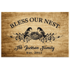 "Canvas For Family 36"" X 24"" -BEST SELLER Blessed Family Customized Wall Decor"