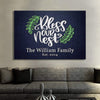 "Canvas For Family Blue / 36"" x 24"" -BEST SELLER ""Our Nest"" Family Personalized Canvas Wallart"
