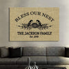 "Canvas For Family Personalized Family Wall Art -30""x20"""