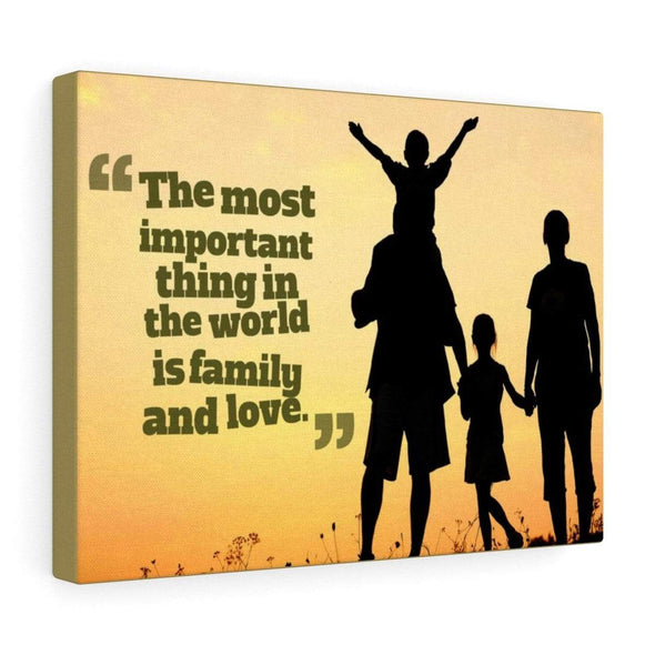 Canvas For Family 36″ × 24″ The Most Important Thing Is Family Wall Decor Canvas