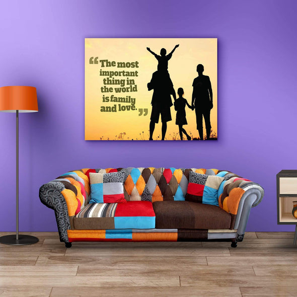 Canvas For Family The Most Important Thing Is Family Wall Decor Canvas