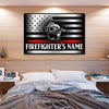 Canvas For Firefighter Customized Firefighter Canvas Art