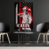 Canvas For Firefighter Personailzed Firefighter Canvas Art