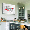 Canvas For Kitchen Seasoned With Love Wall Canvas For Kitchen
